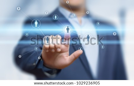 Human Resources HR management Recruitment Employment Headhunting Concept. #1029236905