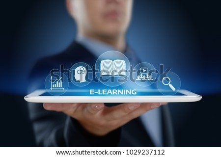 E-learning Education Internet Technology Webinar Online Courses concept. #1029237112