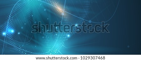 dna and medical and technology background. futuristic molecule structure presentation Royalty-Free Stock Photo #1029307468