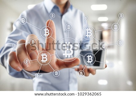 Bitcoin cryptocurrency. Financial technology. Internet money. Business concept. #1029362065