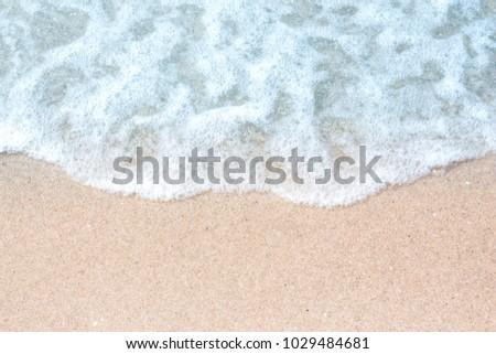 Soft wave on sand beach #1029484681