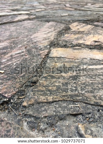 close up The stone flooring background #1029737071