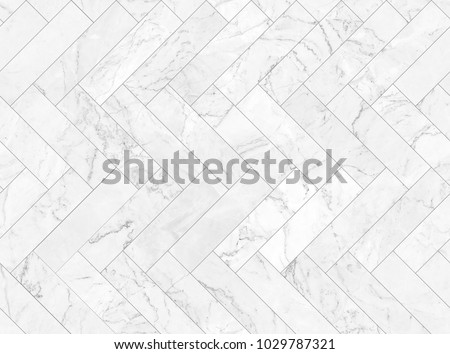 White marble bricks wall for background , seamless marble tile wall pattern , for Interiors design. High resolution #1029787321