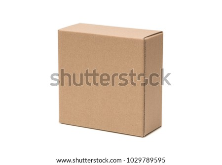 cardboard box isolated on white #1029789595