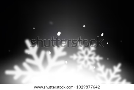 Dark Gray vector template with ice snowflakes. Decorative shining illustration with snow on abstract template. New year design for your ad, poster, banner. #1029877642
