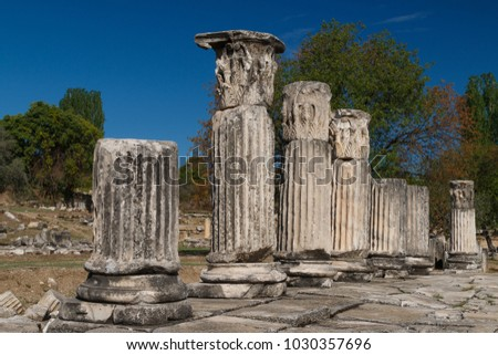Ruins of the ancient sanctuary Lagina, Turkey #1030357696