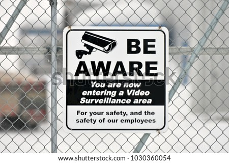 Video Surveillance Signage