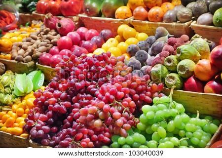 Fresh fruits at a market #103040039