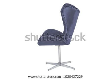 armchair. Modern designer chair on white background. Texture chair. #1030437229