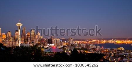 Seattle Evening Wide