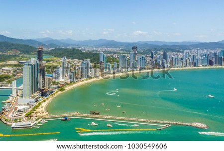 View of the city of Balneario Camboriu from the lookout point, Santa Catarina, Brazil - 11/15/2017. #1030549606