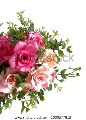 Bouquet of roses on white background. #1030577812