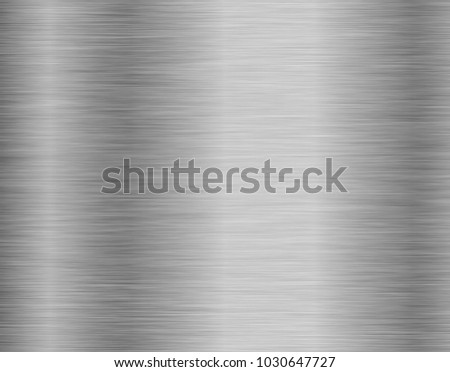 Metal background or texture of brushed steel plate with reflections Iron plate #1030647727