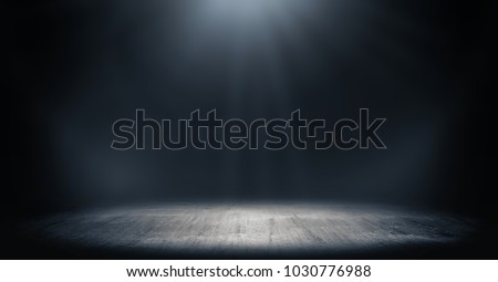 Dark room with light background. Royalty-Free Stock Photo #1030776988