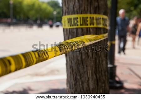 Police line tape, Washington DC, USA #1030940455