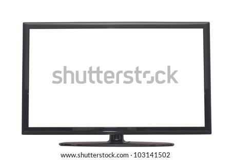 isolated flat screen tv, or computer monitor with 2 clipping path in jpg. One clipping path is tv outline, the other one is the screen. #103141502