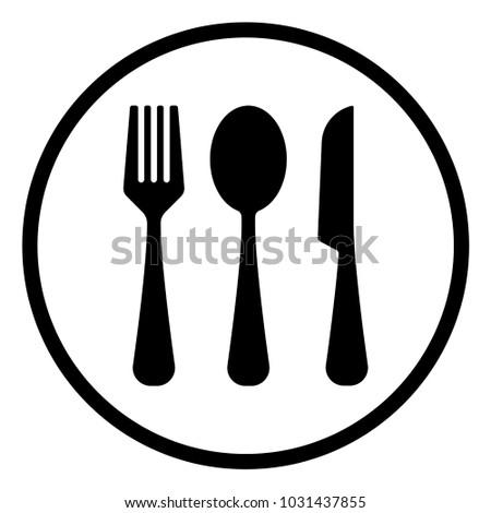 fork,spoon,knife, outline vector