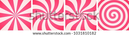 Set of sweet candy abstract vector backgrounds
