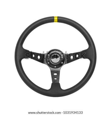 Steering wheel, isolated on the white background #1031934133