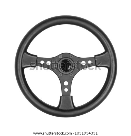 Steering wheel, isolated on the white background #1031934331