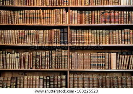 Old books in the Library of Vienna.