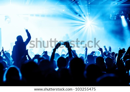 cheering crowd at concert #103255475