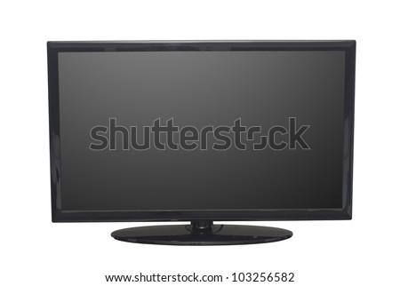 isolated flat screen tv or computer monitor, with 2 clipping path in jpg. One clipping path is tv outline, the other one is the screen. #103256582
