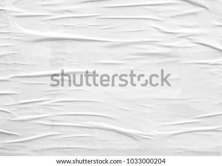 White paper ripped torn background blank creased crumpled posters placard grunge textures surface backdrop  #1033000204