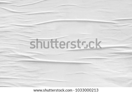 White paper ripped torn background blank creased crumpled posters placard grunge textures surface backdrop empty space for text Royalty-Free Stock Photo #1033000213