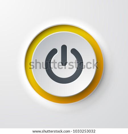 web icon push-button power Royalty-Free Stock Photo #1033253032