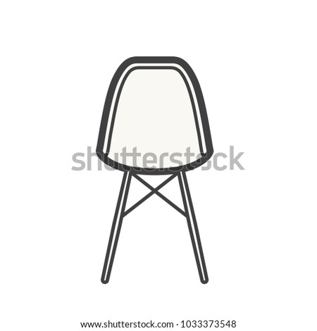 Illustration of an empty chair #1033373548