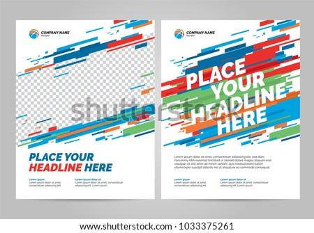Flyer design sports invitation template. Royalty-Free Stock Photo #1033375261