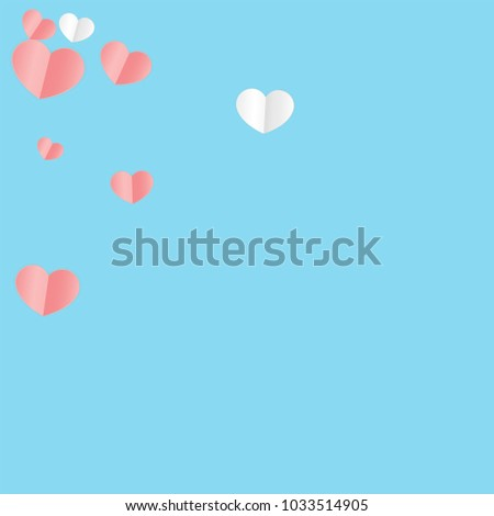 Hearts Confetti Background. St. Valentine's Day pattern.   Romantic Scattered Hearts Design Element. Love. Sweet Moment. Vector Illustration.   Design for Weddings, Anniversary, Mother's Day.   #1033514905