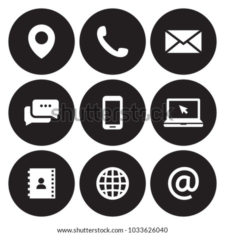 Contact us icons Royalty-Free Stock Photo #1033626040