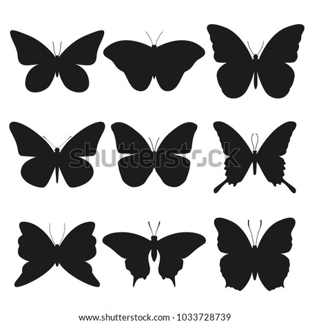 Butterfly Animal Silhouette Clip Art Design Vector Set
