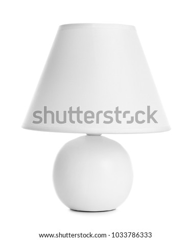 Stylish table lamp on white background #1033786333