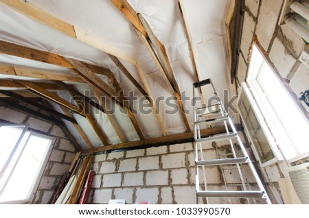 repair of the attic for the living room. #1033990570