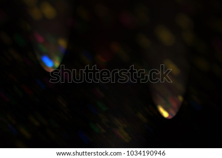 Magic colors of Christmas atmosphere shining into the space #1034190946
