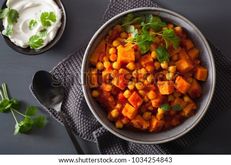 sweet potato and chickpea curry #1034254843