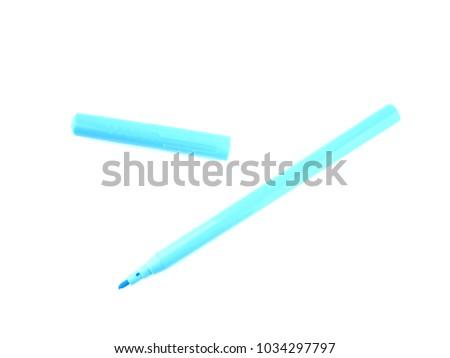 colored felt-tip pen on white background #1034297797