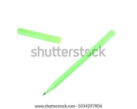 colored felt-tip pen on white background #1034297806