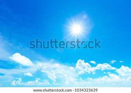 clouds in the blue sky #1034323639
