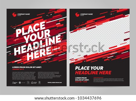 Poster design sports invitation template. Royalty-Free Stock Photo #1034437696
