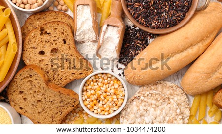selection of gluten free food Royalty-Free Stock Photo #1034474200