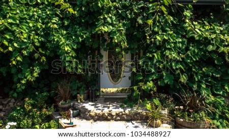 Nature Design House Entrance #1034488927