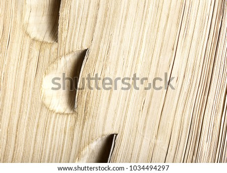 A close up, 'guess what it is' or background image of a dictionary