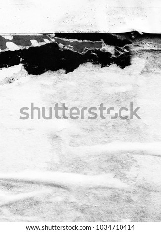 Vintage white old paper ripped torn background blank creased crumpled posters grunge textures surface backdrop  #1034710414