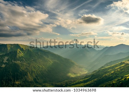 Mountains in my dream, Polish Tatry #1034963698