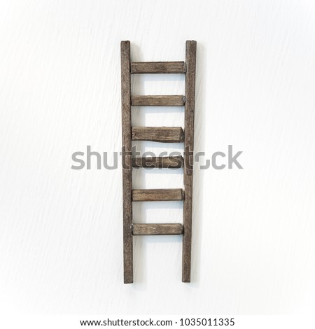 Wooden ladder isolated on white background #1035011335