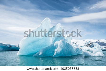 Jokulsarlon glacier lagoon, Iceland Royalty-Free Stock Photo #1035038638